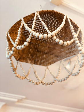 Woven Straw Beaded Pendant SHADE
