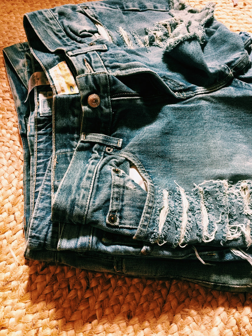 Various Ladies Vintage Denim Cut offs