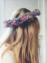 Load image into Gallery viewer, Purple Autumn Shades Women's Head Wreath