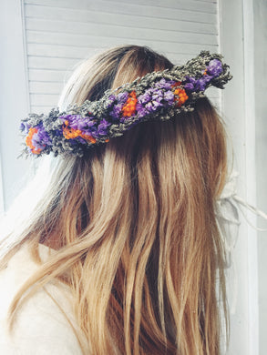 Purple Autumn Shades Women's Head Wreath
