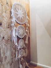 Load image into Gallery viewer, Maxi Crochet Feather Dream Catcher Wall Hanging