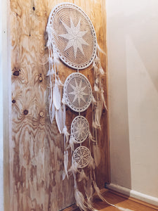 Maxi Crochet Feather Dream Catcher Wall Hanging