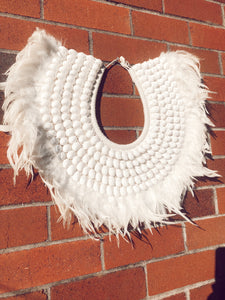 Handmade Shell Neck Tribal Wall Hanging ( available with stand)