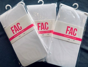 white opaque stockings for children by fashion accessory co.