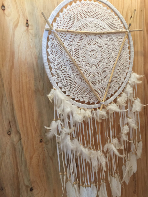 NEW CROCHET STICK BOHO feather TASSEL DREAM CATCHER
