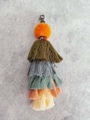 Autumn Colours - Tribal tassel Keyring