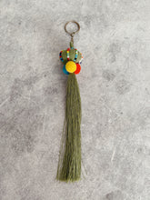 Load image into Gallery viewer, Light Fern  Pom Pom Trad Tassel KeyRing Accessory