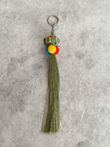 Light Fern  Pom Pom Trad Tassel KeyRing Accessory