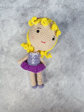 Load image into Gallery viewer, Purple Princess Crochet Doll