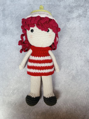 Strawberry Kiss Handmade Knitted Doll