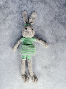 Mrs Mint Bunny Crochet Large Bunny Doll