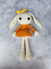 Load image into Gallery viewer, Lola Tangy Orange Crochet Bunny Doll