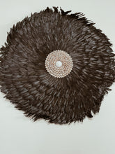 Load image into Gallery viewer, 70cm Black Feather Juju Wall Hanging- Large With Beige Shells