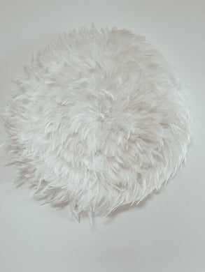 White Feather Juju Wall Hanging with Shell Centre - 60cm