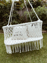Load image into Gallery viewer, Boho Macrame Baby Nursery Bassinet Hanging Chair