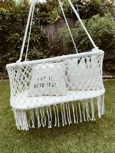 Boho Macrame Baby Nursery Bassinet Hanging Chair