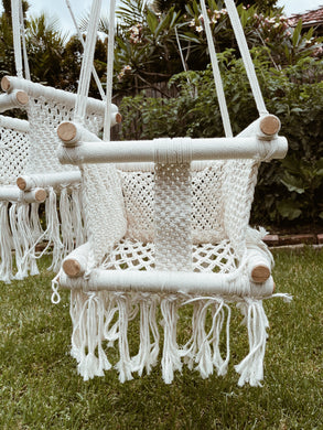 Boho Childrens + Baby Macrame Swing- Simple Front