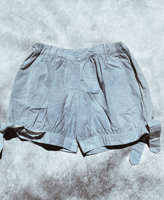 iluca the label: ISLA CHAMBRAY TIE UP SHORTS