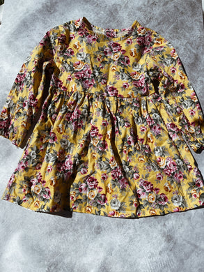 Girls Vintage Style Pretty Flower Dress