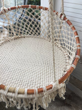 Load image into Gallery viewer, Boho MACRAME HANGING CHAIR- Natural