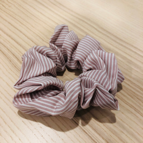 My Store Sydney - Dusty Pink Pin Striped Scrunchie