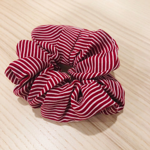 My Store Sydney - Red Pin Striped Scrunchie