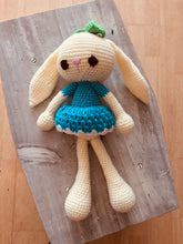 Load image into Gallery viewer, Lola Blue Crochet Bunny Doll