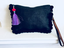 Load image into Gallery viewer, Almighty Love Pompom Clutch (Black)
