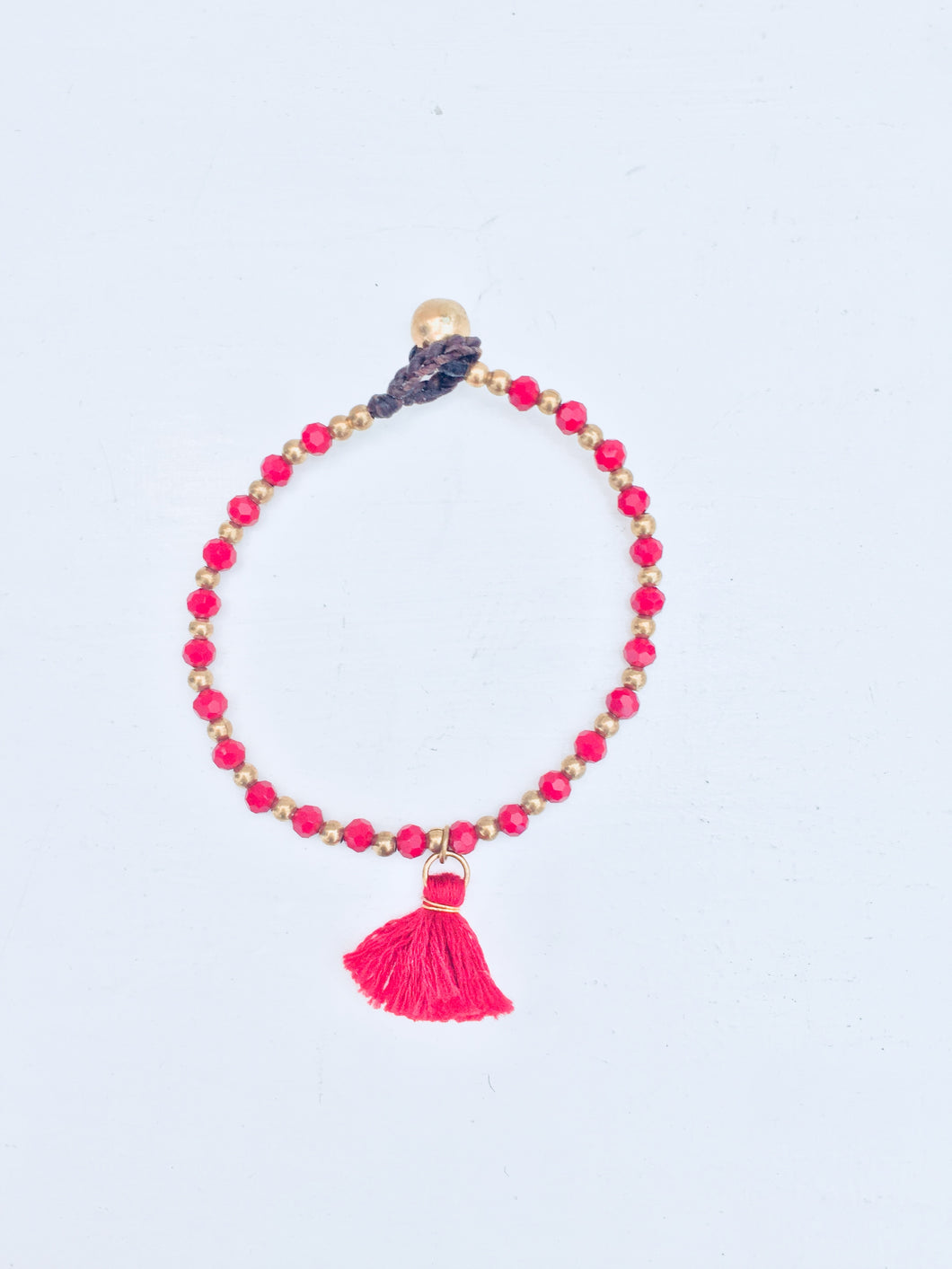 Chandra Cotton Tassel Bracelet (Various Colours)