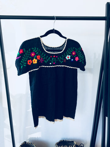 Trad Embroidered Handmade Ladies Smock Top