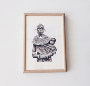Tribal Mother Print - Framed
