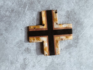 Bronze Goddess- Monochrome Gold Ceramic Cross