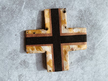 Load image into Gallery viewer, Bronze Goddess- Monochrome Gold Ceramic Cross