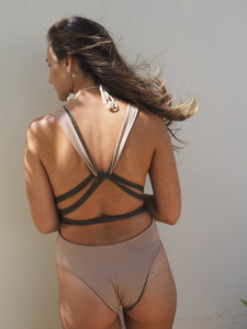 GERRY CAN // LILAH ONE PIECE // KHAKI AND NUDE