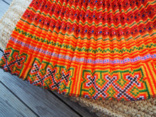 Load image into Gallery viewer, Yellow, Orange and Red - Tribal Trad Circle Skirt
