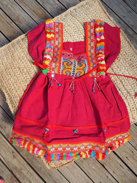 Fuchsia - Vintage Children's Folk Dress