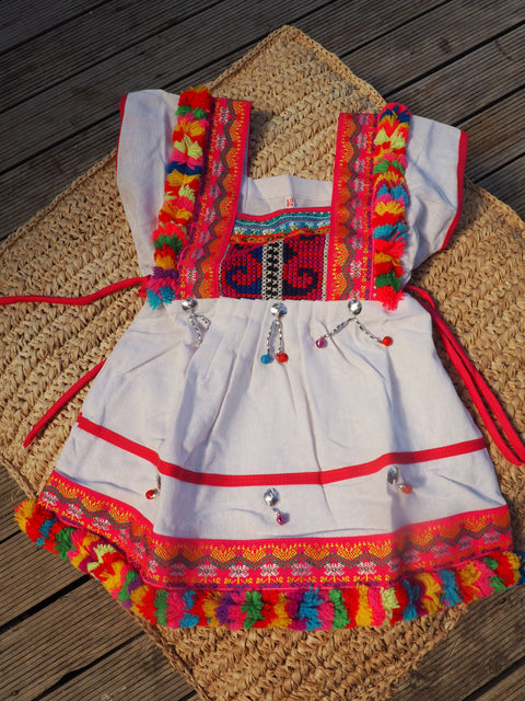 White - Vintage Children's Folk Dress
