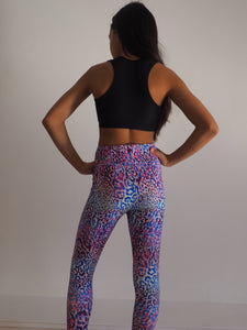 Gerry Can Kids Active - NEON LEOPARD WILD KID COMPRESSION MESH CROP - GERRY CAN
