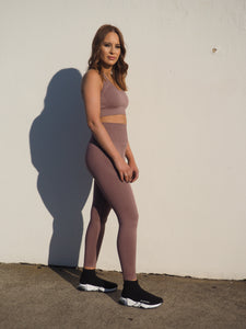 Gerrycan Seamless geo Burnt Plum knit compression activewear set