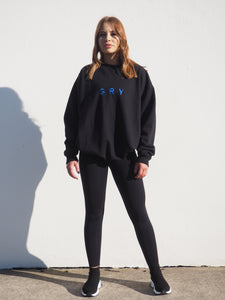 Gerrycan Black Unisex Sweater with GRY Blue Logo