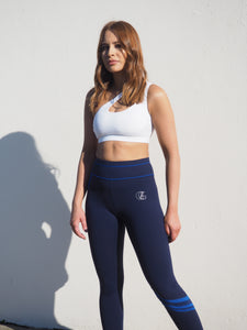 Gerrycan Blue and Navy Full Length Compression Activewear Leggings