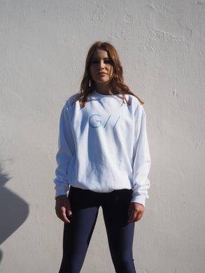 Gerry Can White Unisex Sweater- GC ALAKSA WHITE