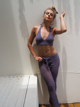 Load image into Gallery viewer, Sammy Crochet Crop + Pant Set (Grey Lilac) - GERRY CAN