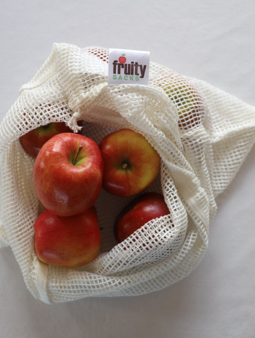 Fruity Sacks Reusable Bamboo Mesh Bags 2xMed 1xLge