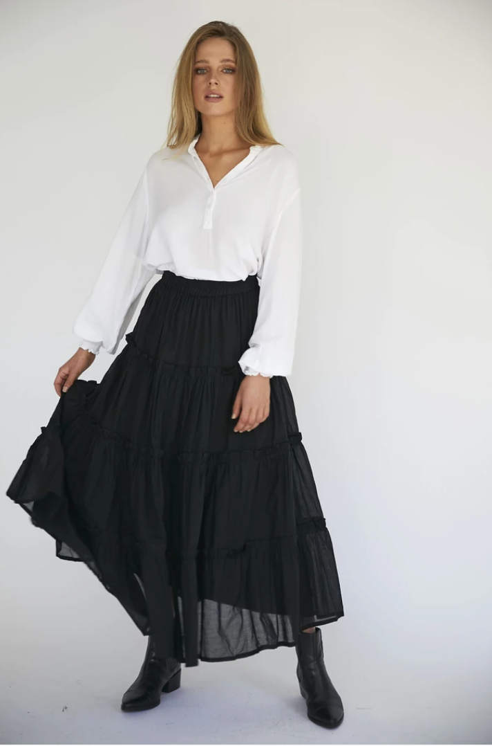 MELROSE SKIRT - BLACK