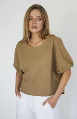 HELEN TOP - TAUPE