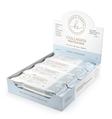 Kissed Earth Collagen Bar - Choc Coconut