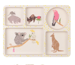 Divided Plate Set - Australiana - 3 Pack