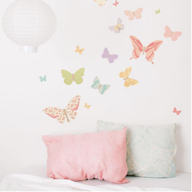 Love Me - Butterflies - Girly Wall Decal