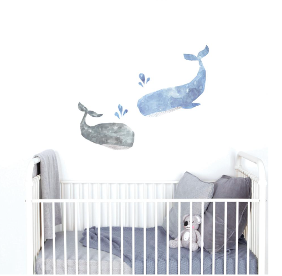 Love Mae - Blue Whale Wall Decal